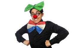The clown isolated on the white background Stock Photos