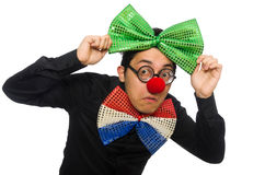 The clown isolated on the white background Royalty Free Stock Photos