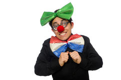 The clown isolated on the white background Royalty Free Stock Image