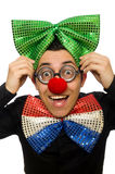 The clown isolated on the white background Royalty Free Stock Images