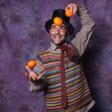 Clown joggling Royalty Free Stock Photography