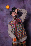 Clown joggling Stock Photos