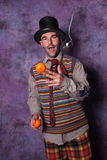Clown joggling Royalty Free Stock Photos