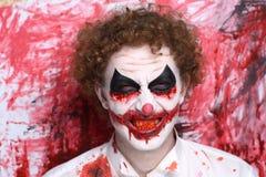 Clown joker make up Royalty Free Stock Image