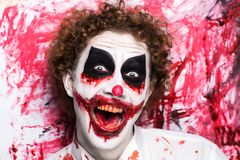 Clown joker make up stock photos