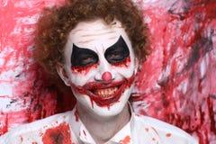 Clown joker make up Stock Photo