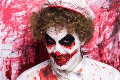 Clown joker make up Stock Photography