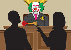 Clown Judge illustration stock