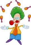 Clown juggler cartoon Royalty Free Stock Photo
