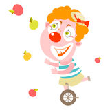 Clown juggler Stock Image
