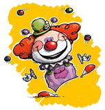 Clown Juggling Stockbild