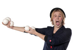 Clown with juggling balls Stock Photography