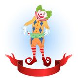 Clown juggling colorful playing card Royalty Free Stock Photo