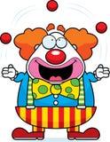 Clown Juggling de bande dessinée illustration libre de droits