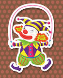 Clown jumping. Funny clown jumping on a jump rope Stock Photo