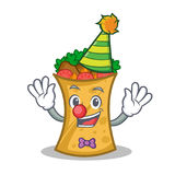 Clown kebab wrap character cartoon Royalty Free Stock Photography