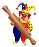 Clown with Kichen equipment. 3d rendered illustration of Clown with Kichen equipment stock illustration
