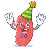 Clown kidney mascot cartoon style. Vector illustration Royalty Free Stock Photo