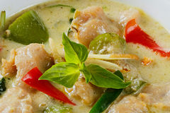 Clown knifefish ball green curry Stock Photography