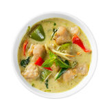 Clown knifefish ball green curry Royalty Free Stock Image