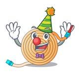 Clown la mascotte del tubo flessibile dell'acqua illustrazione vettoriale