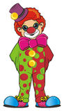 Clown with large bow Royalty Free Stock Photo