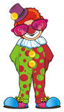 Clown in large pink sunglasses Stock Photography