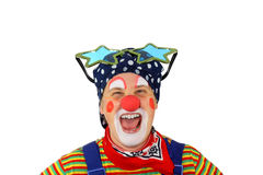 Clown is laughing. And looking straight into the Camera Royalty Free Stock Photos