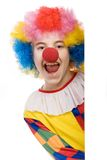 Clown laughing stock photo