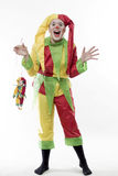 The clown laughs Stock Image