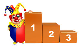 Clown with 123 Level. 3d rendered illustration of Clown with 123 Level Stock Photography