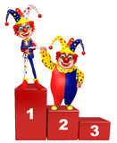 Clown with 123 Level. 3d rendered illustration of Clown with 123 Level Royalty Free Stock Photos