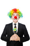 Clown with lollipop Stock Image