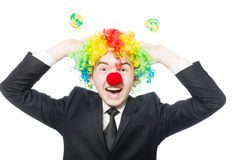 Clown with lollipop Stock Images