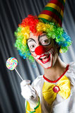 Clown with lollipops Stock Image