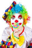 Clown with lollipops Stock Photography