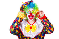 Clown with lollipops Royalty Free Stock Image