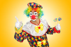 Clown with lollipops  Royalty Free Stock Photos