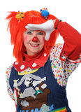 Clown Looking Ahead. Gesturing with hand Royalty Free Stock Photo