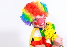Clown looking to the copy space area Royalty Free Stock Photos