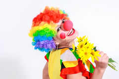Clown looking to the copy space area Royalty Free Stock Images