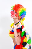 Clown looking to the copy space area Stock Photos