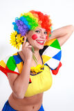 Clown looking to the copy space area Royalty Free Stock Image