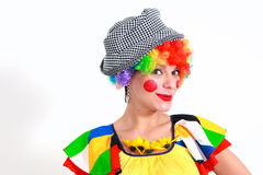 Clown looking to the copy space area Royalty Free Stock Photo