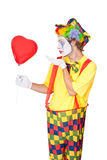 Clown in love Stock Images