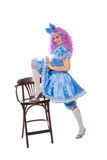 Clown in a Malvina suit Royalty Free Stock Photo