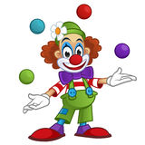 Clown. Man dressed with clothes clown, the clown is playing with balls vector illustration