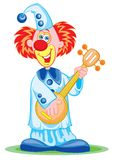 The clown with a mandoline Stock Images