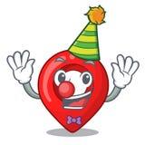 Clown map marker navigation pin mascot cartoon. Vector illustration royalty free illustration