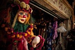 Clown Marionette Royaltyfri Fotografi